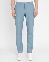 M.Studio Sky Blue Albert Chambray Trousers