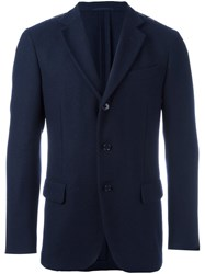 Massimo Piombo Mp Button Front Blazer Blue