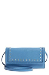 Cole Haan Cassidy Leather Rfid Crossbody Wallet Blue Riverside