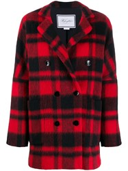 Redemption Double Breasted Check Coat 60