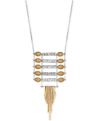 Lucky Brand Two Tone Ladder Pendant Necklace