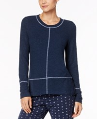 Nautica Dolman Sleeve Pajama Top Navy Heather