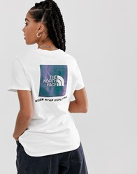 The North Face Rage Red Box Heavyweight T Shirt In White Iridescent
