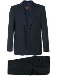 Kiton Two Piece Suit Cupro Mohair Wool Blue