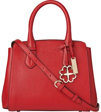 Lk Bennett Cassandra Small Leather Tote Bag Red Roca Red