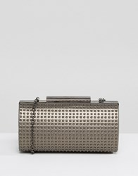 Nali Studded Clutch Bag Hematite Silver