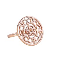 Hoochie Mama Rose Medallion Ring Rose Gold