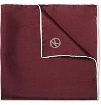 Kingsman Drake's Silk Pocket Square Burgundy