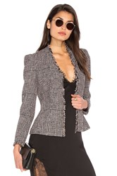 Rebecca Taylor Houndstooth Tweed Jacket Pink