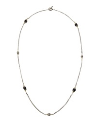 Konstantino Nykta Two Tone Onyx And Silver Bead Necklace