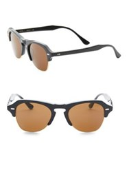 Kyme 48Mm Clubmaster Sunglasses No Size