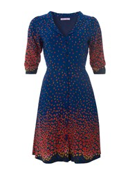 Trollied Dolly Tea Party Dress Navy