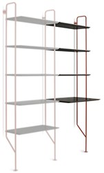 Blu Dot Hitch Add On Bookcase And Desk Flw Red Black