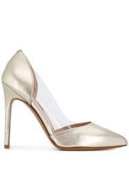 Albano Metallic Pointed Pumps Gold