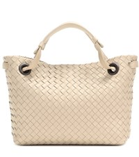 Bottega Veneta Intrecciato Leather Shopper Neutrals