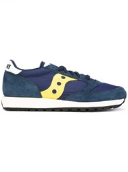 Saucony Classic Lace Up Sneakers Men Cotton Suede Rubber 8.5 Blue