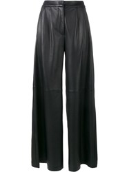 Adam By Adam Lippes Flared Leather Trousers Black