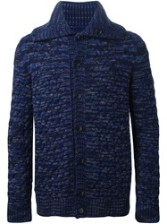 Missoni Cable Knit Buttoned Cardigan Blue