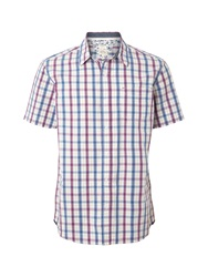 White Stuff Midway Check Short Sleeve Classic Collar Shirt Pink