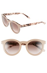 Boss 48Mm Round Sunglasses Nude Havana Rose