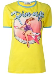 Jeremy Scott Pin Up Print T Shirt Yellow Orange