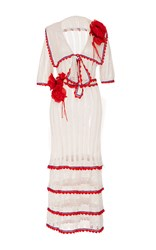 Anna Sui Cowgirl Knit Dress White
