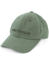 Juun.J Forget The Rules Baseball Cap Cotton Polyester Green