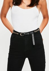 Missguided Black Woven Chain Belt