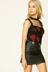Forever 21 Contemporary Floral Crochet Top