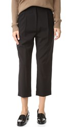 Steven Alan Cropped Pleated Trousers Black