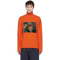 Kenzo Orange Printed Memento Turtleneck