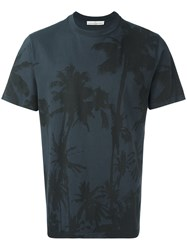 Golden Goose Deluxe Brand Palm Tree Print T Shirt Grey