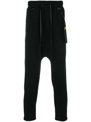 D.Gnak Drop Crotch Trousers Black