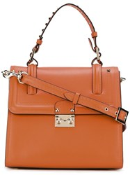 Valentino Studded Handle Tote Yellow Orange