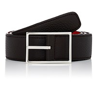 Simonnot Godard Men's Reversible Leather Belt Brown