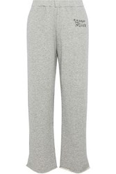 Simon Miller Mott Embroidered French Cotton Terry Track Pants Stone