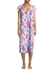 Karen Neuburger Floral Print Nightgown Multi