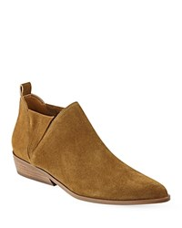 Kendall And Kylie Violet Suede Ankle Booties Natural