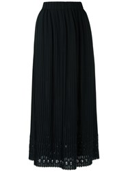 A La Garconne Pleated Midi Skirt Women Polyester One Size Black