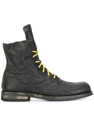 Ann Demeulemeester Lace Up Boots Black