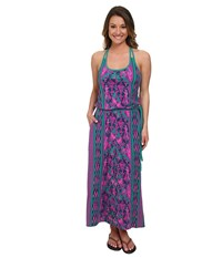 The North Face Nicolette Maxi Teal Blue Glo Pink Dress