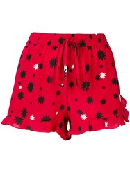Red Valentino Star Print Shorts Red