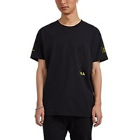 Rta Admin Print Cotton T Shirt Black