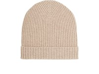 Barneys New York Men's Cashmere Rib Knit Hat Cream