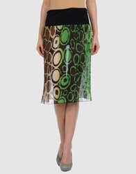 Imperial Star Imperial Knee Length Skirts Green