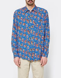 Our Legacy Initial Shirt Blue Flower Print