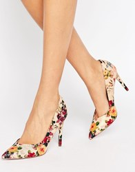 Little Mistress Floral Heel Court Print Multi