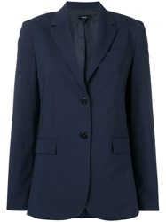 Theory Fitted Tailored Blazer Blue