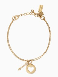 Kate Spade Be Mine Cluster Charm Bracelet Clear Gold