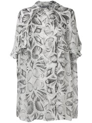 Alexander Mcqueen Embroidered Oversized Blouse White